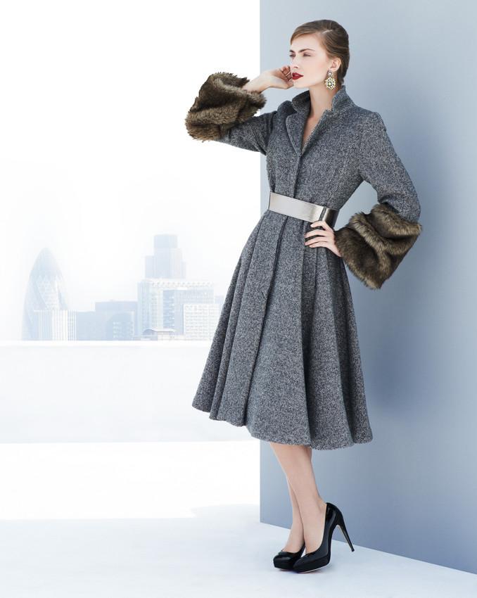 KABATY S KOZESINOU per una Speziale Coat £229, Earring £17.50, Shoe £129 -scr